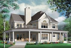 Upstairs common area  House Plan 64980 | Country Craftsman Plan with 2992 Sq. Ft., 4 Bedrooms, 4 Bathrooms, 3 Car Garage at family home plans