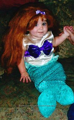 Cute Little Mermaid Costume for an Infant Girl... Coolest Halloween Costume Contest