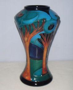 Superb MOORCROFT Vase - MOONLIGHT SONATA by Rachel Bishop