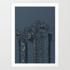 The city owns you Art Print by Budi Satria Kwan - $19.99
