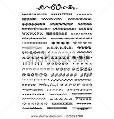 stock-vector-vector-seamless-hand-drawn-brushes-and-borders-set-of-elements-ink-brush-decorative-frames-275393789.jpg (450×470)
