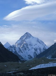 K2 Mountain, Pakistan.  Not as tall as Mt. Everest, but much more dangerous to climb.