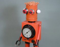 TANGERINE  Found Object  Robot Sculpture by NutzenBoltsWorks, $169.00