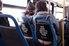 des images de fesses sur les fauteuils de bus contre le cancer du colon - http://www.2tout2rien.fr/des-images-de-fesses-sur-les-fauteuils-dun-bus-contre-le-cancer-du-colon/