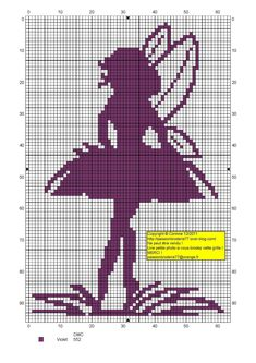 fée - fairy - point de croix - cross stitch - Blog : http://broderiemimie44.canalblog.com/