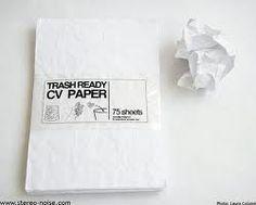 trash ready cv paper