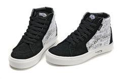 a6d05d0506 White Black Vans SuedeCanvas SK8-II Printed Shoes Sale  Vans Vans Shoes  Price