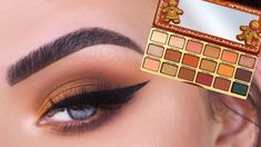 eye makeup natural Too Faced Gingerbread EXTRA Spicy Palette Bright Eye Makeup, Dark Eye Makeup, Dramatic Eye Makeup, Hooded Eye Makeup, Colorful Eye Makeup, Makeup For Green Eyes, Natural Eye Makeup, Smokey Eye Makeup, Too Faced Palette
