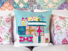 Gift Exchange – A Celebration of the Magic of Christmas (in July! The Night Before Christmas, Christmas In July, Straight Line Quilting, Quilted Gifts, Magical Christmas, Gift Exchange, Christmas Pillow, Pillow Forms, Arabesque