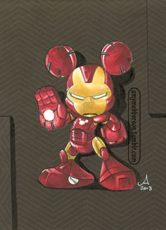Iron Mouse - seems like good a time as any to post this :) Custom piece made for C2E2s 2013 charity auction to benefit St Judes Hospital.