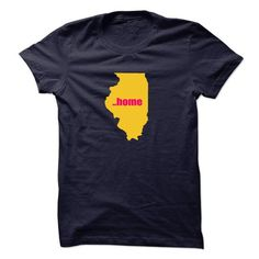 Illinois will always be home T-Shirts, Hoodies, Sweatshirts, Tee Shirts (19$ ==► Shopping Now!)
