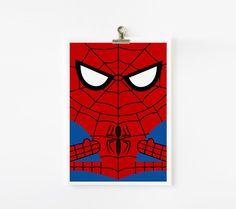 Spiderman 5x7 art print. $8.00, via Etsy.