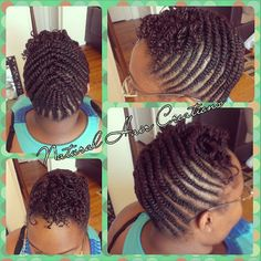 Photo by natural_hair_creations flat twists twa double