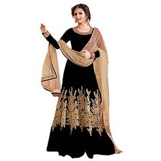 Latest Designer Anarkali Suit from FINIVO FASHION, Its a perfect choice for your cart. Free size Designer and heavy embroidered Anarkali Suit. We sell all genuine product with best quality and price to satisfy our valuable customer. ( Top Fabric: Benglori Silk ) , ( Dupatta Fabric :Heavy Net )