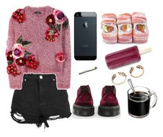"""""""very strange sweather"""" by anastasiasmnv ❤ liked on Polyvore featuring Boohoo, Dolce&Gabbana and Dr. Martens"""