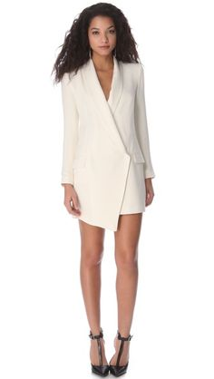 Haute Hippie Extra Long Blazer Dress - I'm pretty in love with Haute Hippie in general, and this dress is rather incredible. Source by jordanmgentry Blazer Dresses Dressing, Long Blazer, Tuxedo Dress, Haute Hippie, Blazer Dress, Casual, Dress To Impress, Dresses For Work, Fashion Looks
