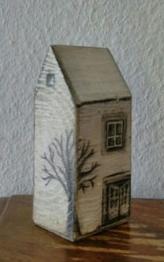 Great Free of Charge Wood block crafts house Popular There are plenty of uses of wooden words including with them intended for crafts as well as with sig Scrap Wood Crafts, Wood Block Crafts, Wood Burning Crafts, Driftwood Crafts, Wood Blocks, Wood Projects, Pottery Houses, Ceramic Houses, Wooden Houses