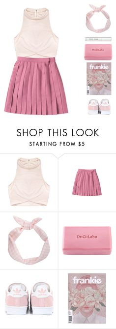 """""""Pink Wrap Top"""" by for-the-love-of-pink ❤ liked on Polyvore featuring Rituals, Dr.Ci:Labo, adidas Originals and Bobbi Brown Cosmetics"""