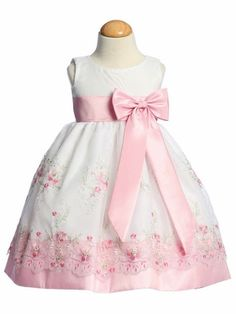 New Baby Kids Flower Girl Pink Organza Dress Easter Wedding Birthday Party Little Girl Dresses, Girls Dresses, Flower Girl Dresses, Flower Girls, Girls Special Occasion Dresses, Baby Boutique Clothing, Organza Dress, Easter Dress, Baby Dress