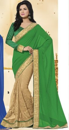 Offwhite With Green Silk Saree  #designersaree #silksaree #indiandesignersaree