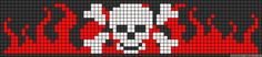 Skull and flames Native Beading Patterns, Pony Bead Patterns, Bead Crochet Patterns, Beaded Bracelet Patterns, Peyote Patterns, Friendship Bracelet Patterns, Cross Stitch Bookmarks, Cross Stitch Borders, Cross Stitching