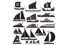 Icons motor and sailing yachts @creativework247