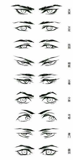 Resultado de imagem para anime boy eyes drawing