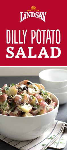 Perfect for your next picnic or backyard barbecue, this potato salad with dill has a nice tang, thanks to the champagne vinegar in the dressing. The perfect side dish for any summer family outing.