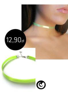 Kup mój przedmiot na #vintedpl http://www.vinted.pl/akcesoria/bizuteria/15709576-neonowy-choker-milimoon-satyna-naszyjnik-limon