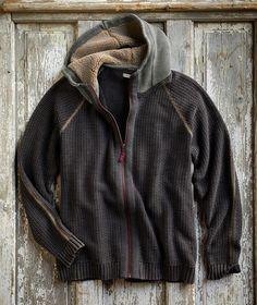 Men's Zip-Front Summit Hoodie Sweater with Fleece-Lined Hood Sport Outfits, Casual Outfits, Tomboy Outfits, Emo Outfits, Sweater Jacket, Men Sweater, Mens Baseball Tee, Cool Hoodies, Men's Hoodies