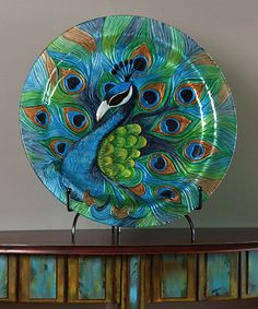 Pretty Peacock Platter. It's like that weird cool thing you love!  #zulily! #zulilyfinds