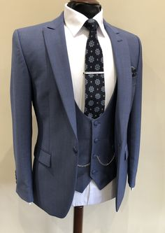 Airforce Blue Wedding Suit | Summer Wedding | Groom suit | Pale Blue Suit