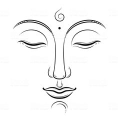 Buddha face vector art buddhism yoga sacred spiritual zen ink drawing isolated on white stock vector art & more images of ancient - istock Yoga Vector, Free Vector Art, Art Drawings For Kids, Art Drawings Sketches, Easy Dragon Drawings, Budha Painting, Buddha Drawing, Buddha Kunst, Buddha Face