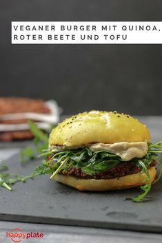 Veganer Burger mit Quinoa, rote Beete und Tofu