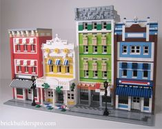 Dream Street made out of Lego Casa Lego, Lego Furniture, Lego Boards, Lego Building Blocks, Lego Room, Lego Modular, Cool Lego Creations, Lego Minecraft, Lego Architecture
