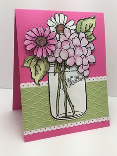 Build A Bouquet SKU 709080.  Available at www.addictedtorubberstamps.com  Card created by Christine Yoerger.