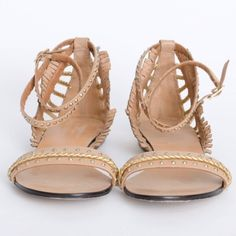 Rachel Roy Camden studded ankle strap sandals Super cute and edgy sandals. Studded strap wraps around ankle and gold spikes line the heel. Sure to be a show stopper. I wore them once. Perfect for spring and summer and the spikes add an edge. Rachel Roy Shoes Sandals