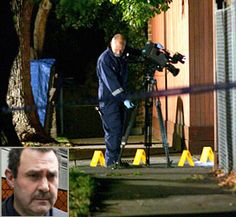 Crime Scene Officer at scene of murder of Mario Condello (inset) at his home in East Brighton, on 6 February Melbourne Victoria, Serial Killers, Underworld, Thing 1 Thing 2, Mafia, Dark Side, Old Photos, Brighton, Outdoor Power Equipment