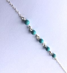 Turquoise Belly Chain Silver Hip Chain by MermaidBeadsJewelry