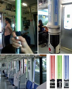 Trains In Tokyo Upgraded With Lightsaber Railings – At Least The Star Wars Blu-ray Advertising Is Doing Things Right