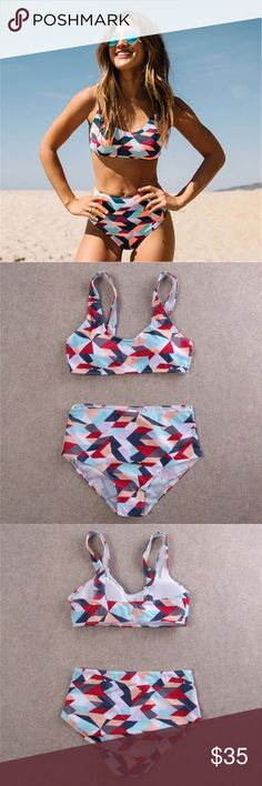 ⭐️Blowout Sale⭐️High waisted active set High waisted fitted coverage bottom with a clasp free active style top. Optional removable padding. Runs true to siZe. OPEN TO SELLING SEPARATES AND DIFFERENT SIZES. Brand new boutique item. Swim Bikinis