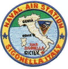 NAS Sigonella, Italy Patch Navy Day, Go Navy, Navy Careers, Badges, Us Navy Aircraft, Naval, Military Insignia, Navy Veteran, Marine Boat