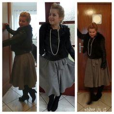Circle velvet skirt