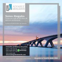 Somos Abogados. Firma de abogados con más de 60 años de ejercicio profesional en Tenerife. https://alvarezabogadostenerife.com/despacho-abogados/ #SomosAbogados