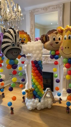 Rainbow & Animal Balloons - Best Picture For long balloon ideas For Your . Balloon Tower, Balloon Display, Balloon Columns, Balloon Garland, Balloon Backdrop, Shark Party Decorations, Birthday Balloon Decorations, Balloon Centerpieces, Birthday Balloons