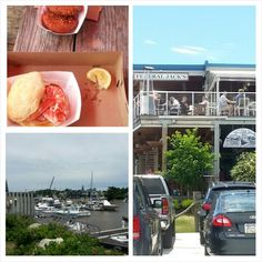 Kennebunk, ME.   #lobster #lobsterroll #lobstercakes #Kennebunk #maine #seafood