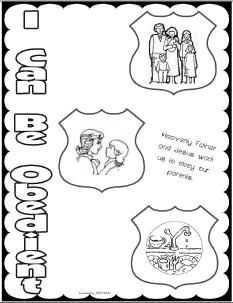 28 - I can be obedient - coloring page | LDS Sunbeam Lessons ...