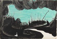 Eugen Gabritschevsky : sans titre, 1946, gouache sur papier photographique, 28,5 cm x 41,5. Collection privée, New York. Photo Adam Reich