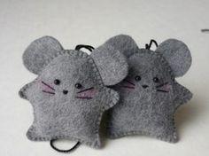 Little felt mice