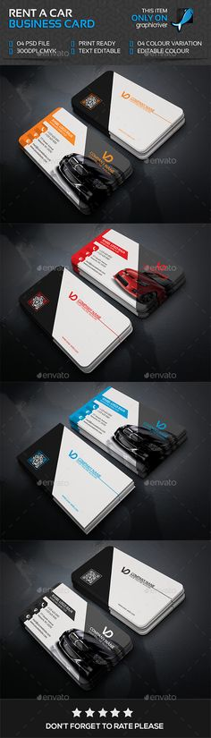 Rant A Car Business Card Template PSD #visitcard #design Download: http://graphicriver.net/item/rant-a-car-business-card/13495827?ref=ksioks (Business Card Template Download)
